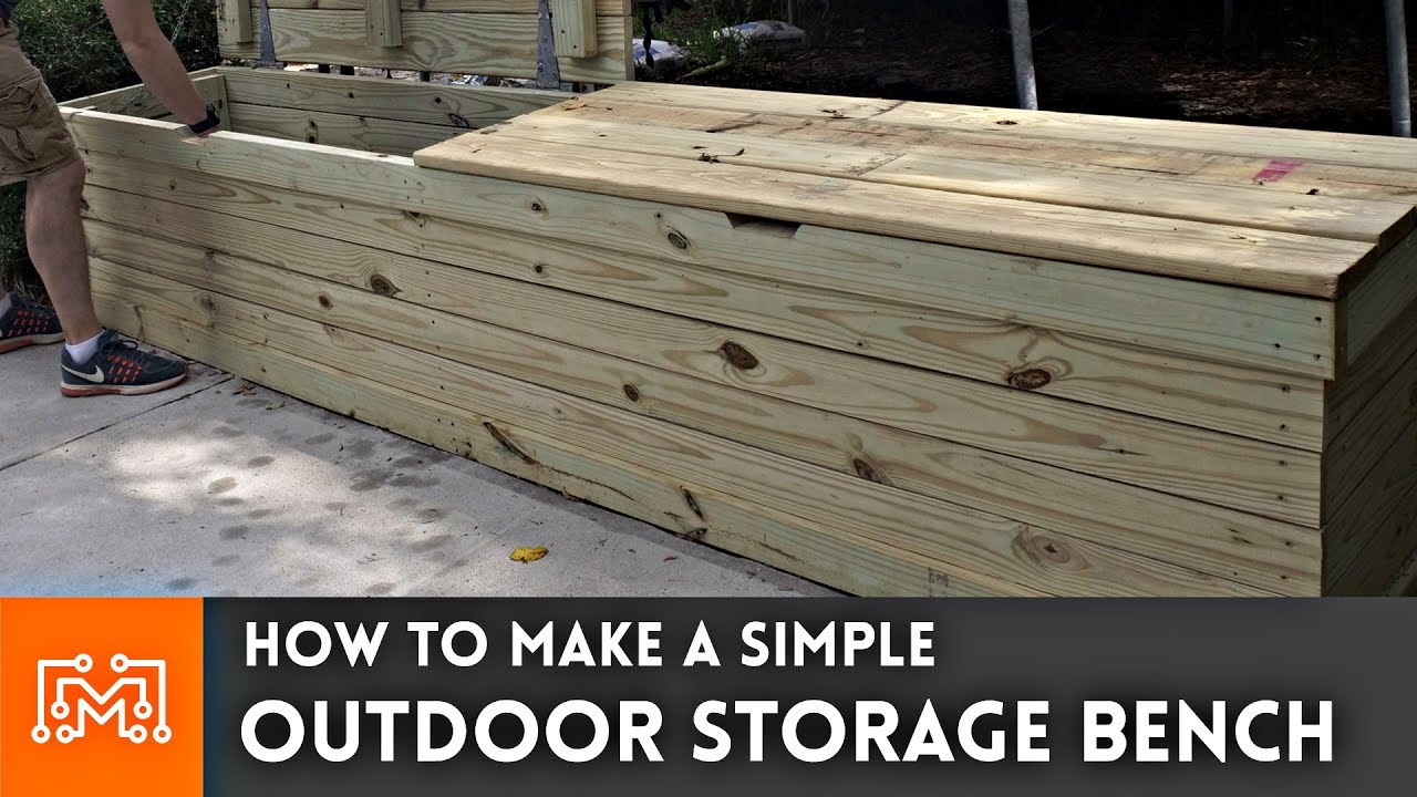 outdoor storage bench woodworking how to youtube. Black Bedroom Furniture Sets. Home Design Ideas