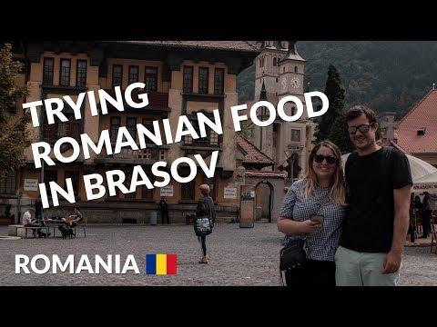 Trying Romanian food + FREE walking tour in Brasov | Romania travel vlog