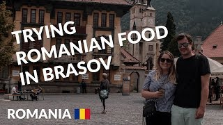 Trying Romanian food + FREE walking tour in Brasov | Romania travel vlog