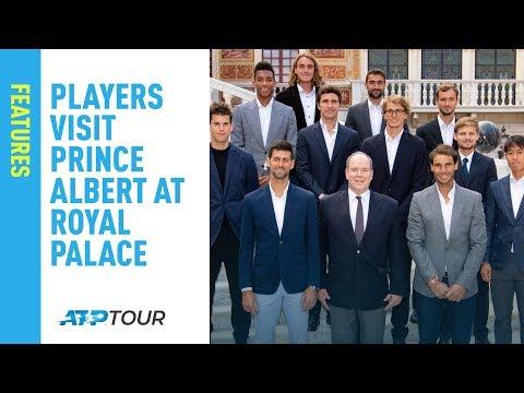 Top ATP Tour Players Visit Prince Albert in Royal Palace