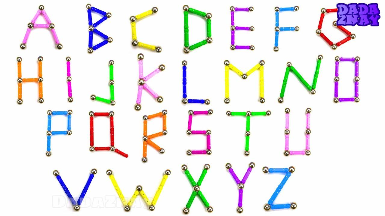 Учим английский Алфавит|Учим цвета для детей| Магнитный ...