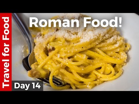 Italian Food - AMAZING ROMAN FOOD and Attractions in Rome, I