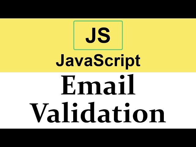 #31 Email Validation in JavaScript