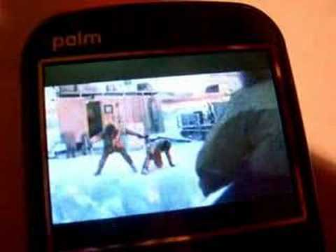 Palm Treo 500 media playback demonstration