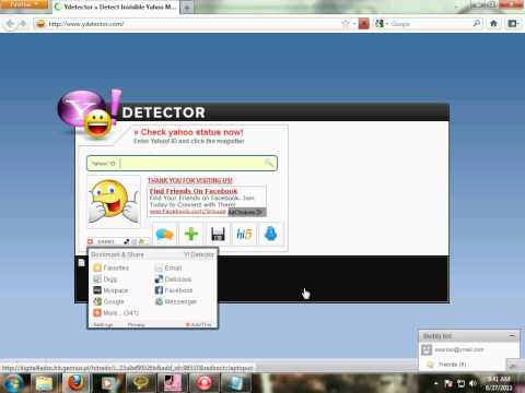 Find Who Is Invisble On Yahoo Messenger(yahoo Online Status Checker)