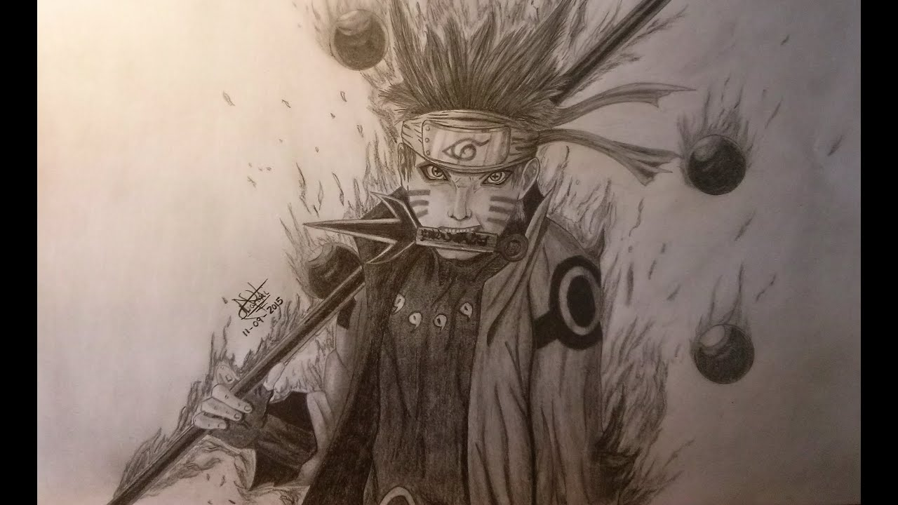 Speed drawing naruto uzumaki realismo realism