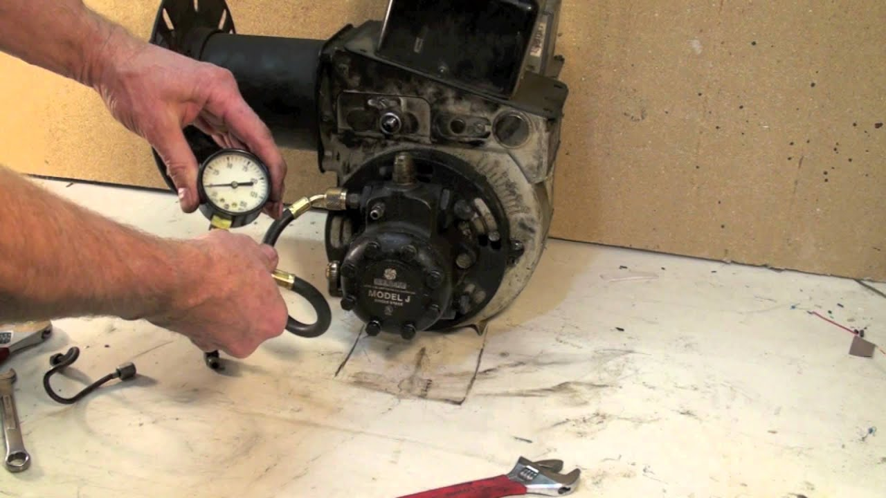 oil burner pump pressure test - YouTube