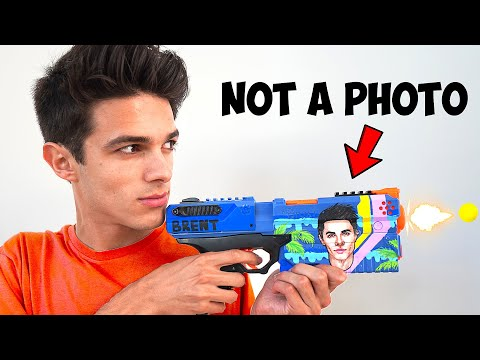 World's Most Realistic Custom Nerf Blaster For Brent Rivera, He Thought It Was A Photo | ZHC Crafts