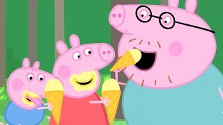 Peppa Pig Official Channel | Ice Cream for Peppa Pig at the Fish Pond