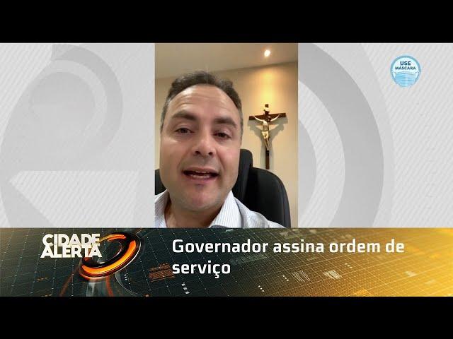Governador assina ordem de serviço para construção da UPA do Jaraguá