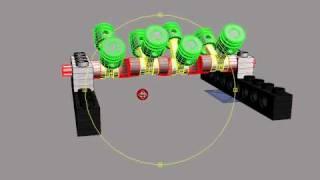 Moteur Lego V8 en 3D