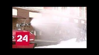 Смотреть видео В Саратове ученые создали радиоуправляемого робота пожарного   Россия 24   YouTube онлайн