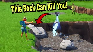 I killed my salty teammate with this new rock glitch (Fortnite Funny Moment)