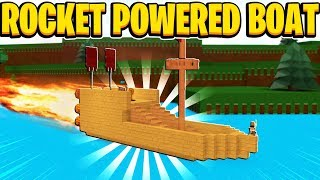 Rocket Powered Boat In Build A Boat For Treasure In Roblox