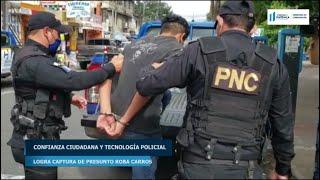 Confianza ciudadana y tecnología policial logra captura de presunto roba carros