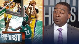 Cris Carter is officially worried about Lonzo's early struggles with the Lakers | FIRST THINGS FIRST
