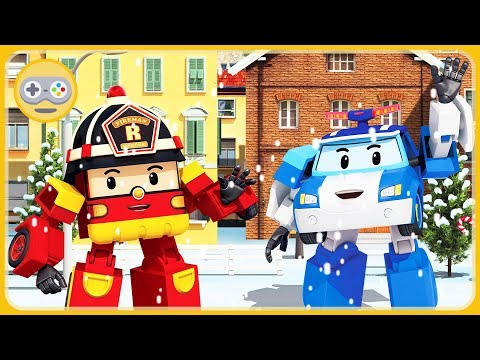Робокар Поли - Новый год и зима в Брумсе * мультик игра для детей про машинки спасатели