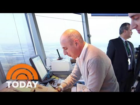 Matt Lauer Worked In An Air Traffic Control Tower – And No One Got Hurt! | TODAY