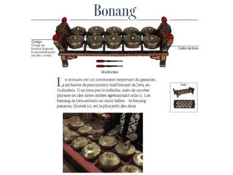 Instruments du gamelan indonésien