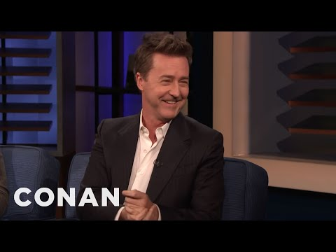 Clint August - Edward Norton On Directing & Living Next To Alec Baldwin - CONAN on TBS