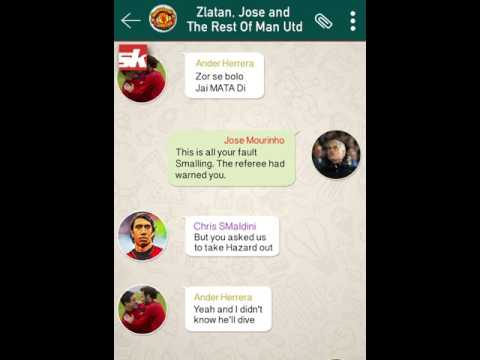 Whatsapp Chat Of Manchester United Team After Their Defeat To Chelsea