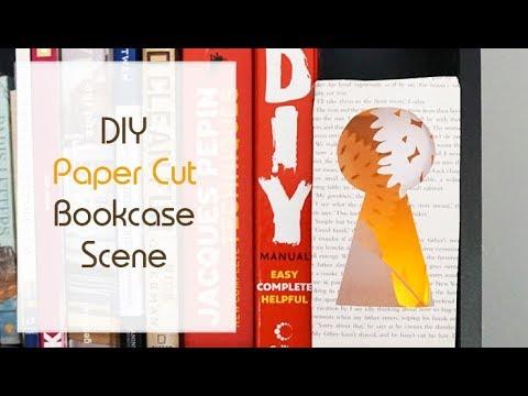 DIY Light-Up Papercut Ornament | Make a Paper Scene in your Bookcase! | Fun Craft Idea