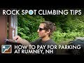 How to pay for parking at Rumney, NH
