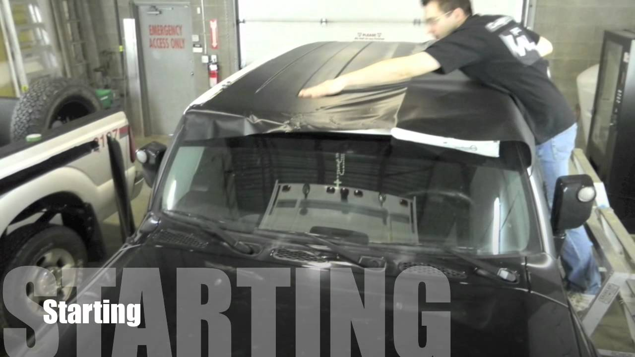 Toyota Fj Cruiser Carbon Fiber Roof Wrap 3m 1080 Youtube