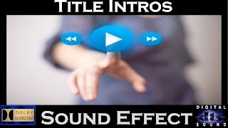 Sound Effects For Introduction | Tiitle |  Best Audio Quality