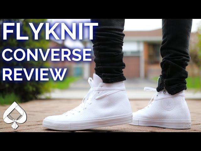 FLYKNIT Converse Chuck Taylor Review and ON-FEET - YouTube