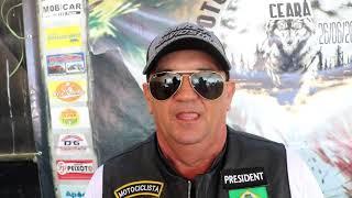 Jesuan fala da satisfação de participar do 4° Encontro de Moto Clube Jaguará