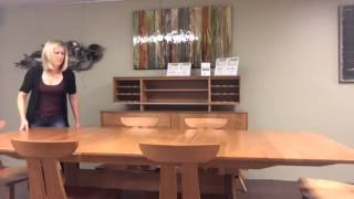 Use One Hand To Self-store The Leaf In This Copeland Dining Table