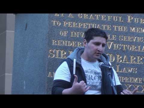 True Blue Strayan vs Refugee in a debate, Melbourne, Australia, 15th Nov 2013