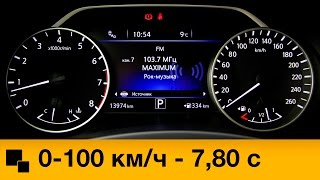 Nissan Murano 3.5 CVT 2015 Разгон смотреть