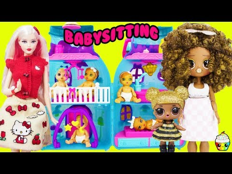 LOL OMG Royal Bee Queen Babysitting Disaster Mean Miss Hello Kitty