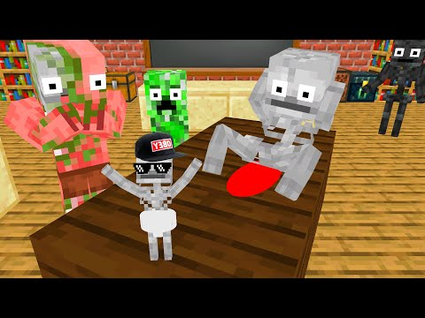 Monster School : PREGNANT CHALLENGE ! SKELETON - Funny Minecraft Animation