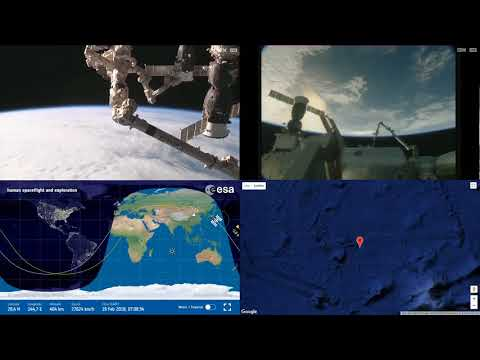 Evening Over Asia - ISS Space Station Earth View LIVE NASA/ESA Cameras And Map - 84
