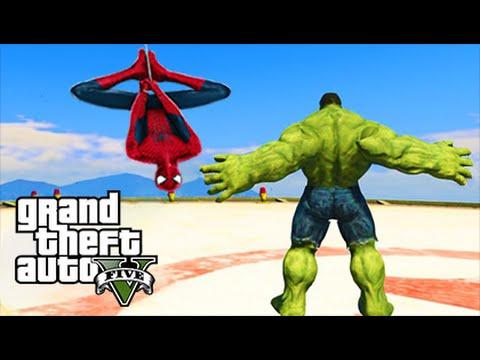 ULTIMATE SPIDERMAN VS HULK MOD! (GTA 5 Mods Funny Moments)