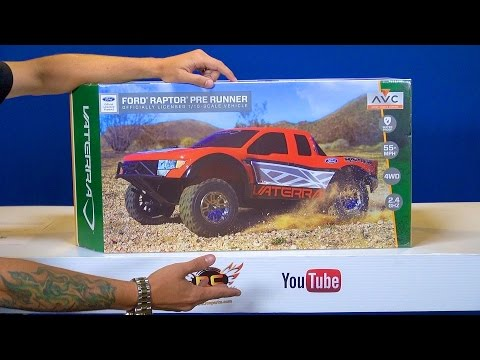 RC ADVENTURES - Unboxing a Vaterra Ford Raptor Pre Runner 4WD Truck RTR w/ AVC Technology