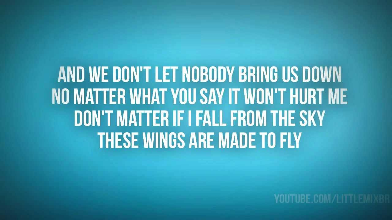 Karaoke Wings - Video with Lyrics - Little Mix - karafun.com
