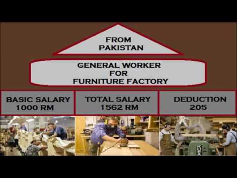 Jobs in Malaysia for furniture factory