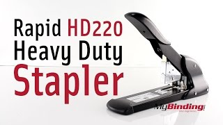 Staple 220 Sheets - Rapid HD220 Heavy Duty Stapler