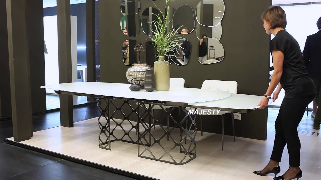 bontempi casa tables milan fair 2015 youtube. Black Bedroom Furniture Sets. Home Design Ideas