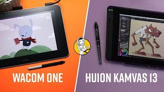 Wacom One - VS -  Huion Kamvas 13 - Smackdown!