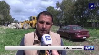 """مبادرة """"إربد أبهى"""" تنظم يوماً تطوعياً في بلدة دير السعنة"""