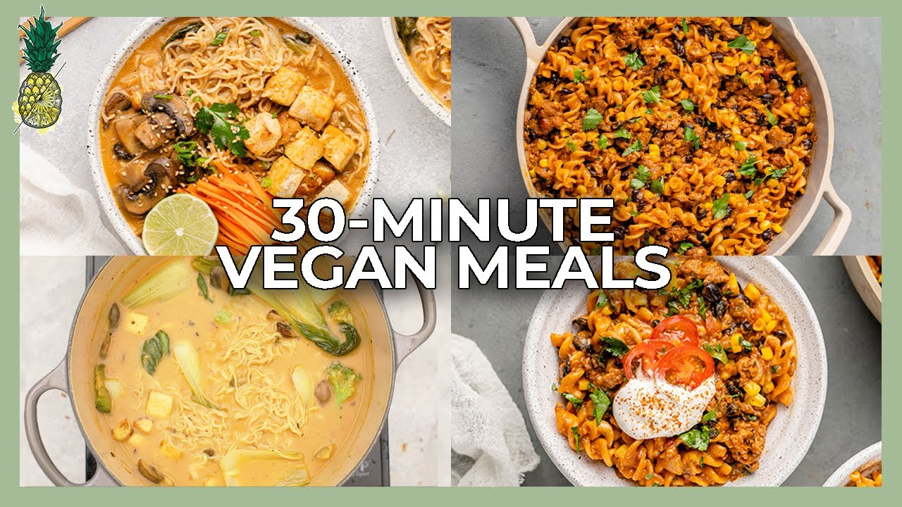 MUST TRY One-Pot Vegan Dinners Ready in 30 Minutes!