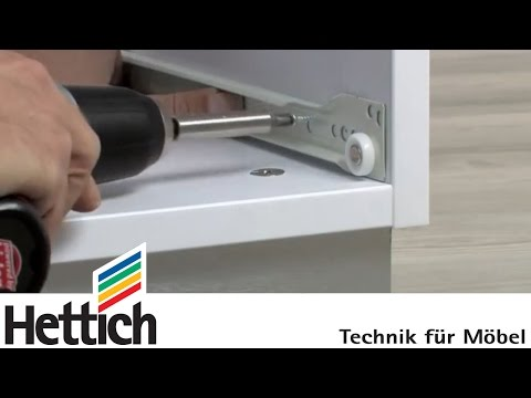 Mounting of roller runner systems: Do-It-Yourself with Hettich