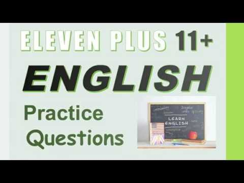 11+ (Eleven Plus) English Practice Questions - How to Pass 11+