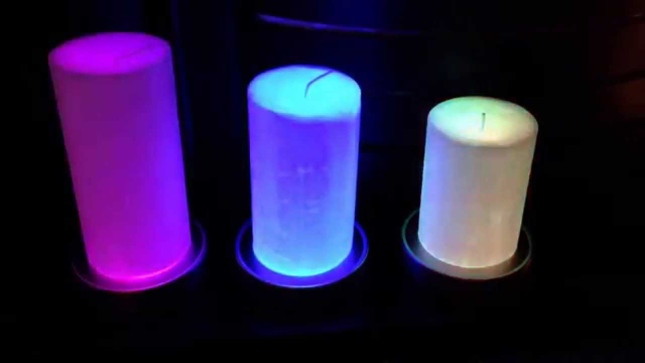 disco candles colour changing candle bases youtube. Black Bedroom Furniture Sets. Home Design Ideas