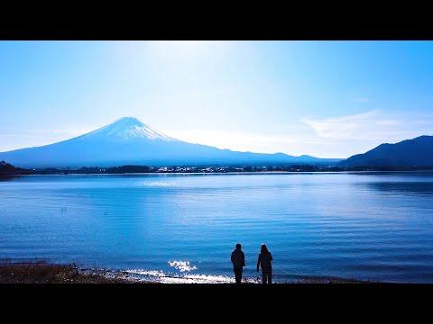 【山梨旅行】キャンプの朝は簡単フレンチトースト!河口湖からの富士山をドローン撮影【冬キャンプVLOG 】